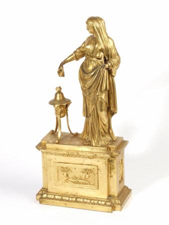 A Vestal Virgin sacrificing