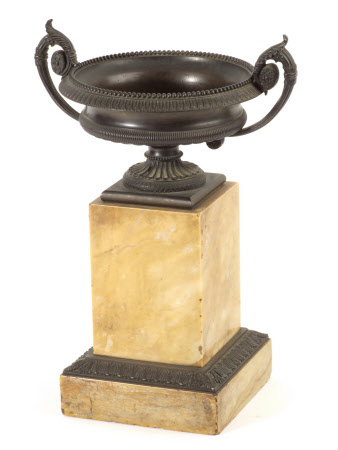 Tazza mounted on a marble base