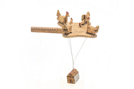 """Pecking Hen"" Wooden Toy"