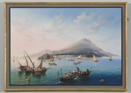 View of the Bay of Naples with Vesuvius