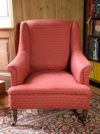 Nineteenth century upholstered armchair