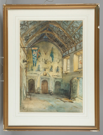 The Great Hall, Cotehele, Cornwall, 1902