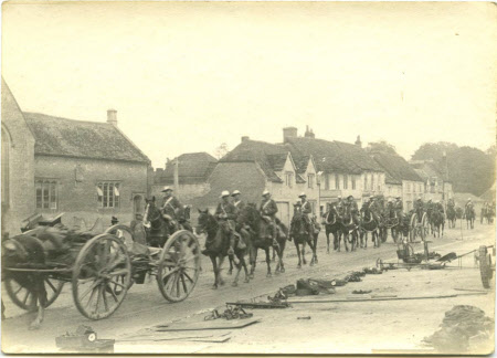 Soldiers passing Lacock School