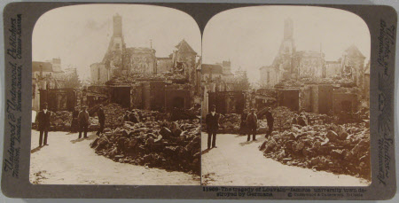 The tragedy of Louvain - famous university town destroyed by Germans