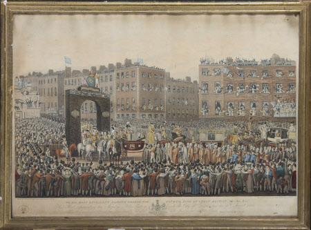 King George IV (1762-1830): Public entry into Dublin, 17th August 1821 (after Joseph Patrick ...