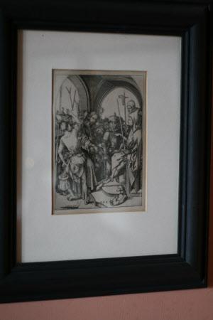 Christ before Annas, the high priest (after Martin Schongauer)
