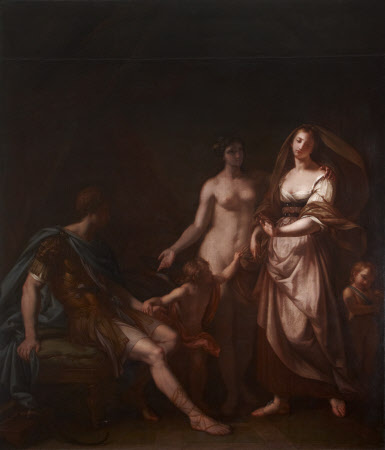 Venus ushering Helen to Paris