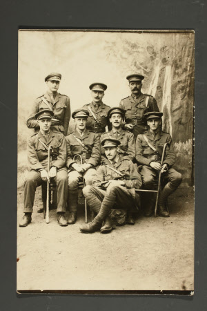 Group of Officers, Captain, The Hon.Thomas Charles Reginald Agar-Robartes, MP (1880-1915) middle ...