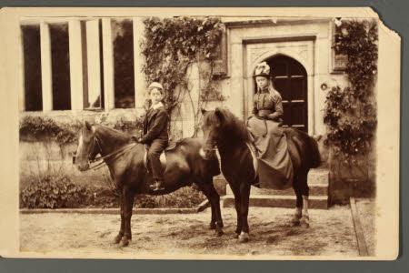 The Hon.Thomas Charles Reginald Agar-Robartes, MP (1880-1915) and his sister The Hon. Mary Vere ...