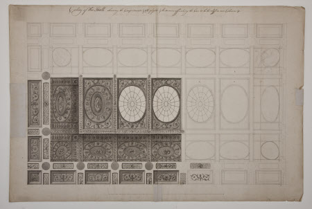 Design for the ceiling in the Marble Hall at Kedleston