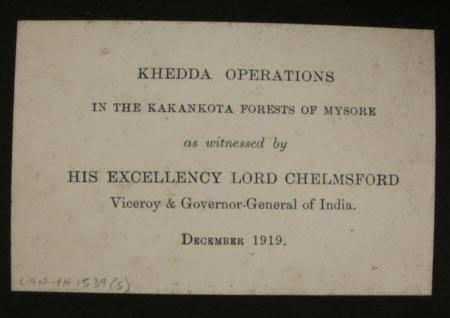 Khedda Operations