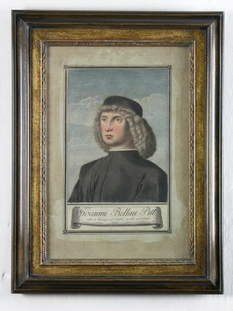 Unknown Young Man (after Giovanni Bellini) formerly thought to be a Self Portrait of  Giovanni ...