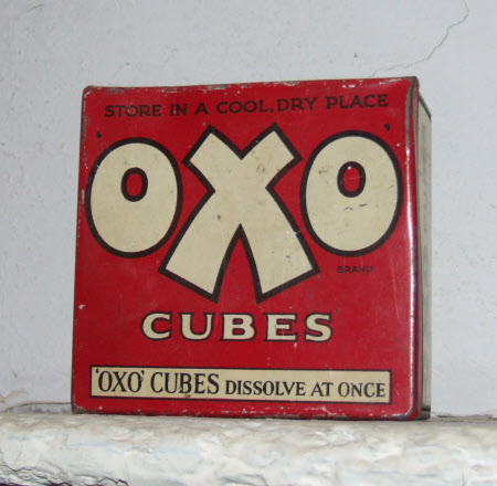 Oxo cube tin