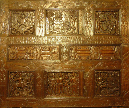 Cupboard front carving