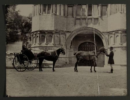The gatehouse, Lanhydrock, Cornwall. The Hon. Thomas Charles Reginald Agar-Robartes, later Captain ...