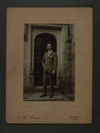 Captain, The Hon.Thomas Charles Reginald Agar-Robartes, MP (1880-1915) at the front entrance to ...