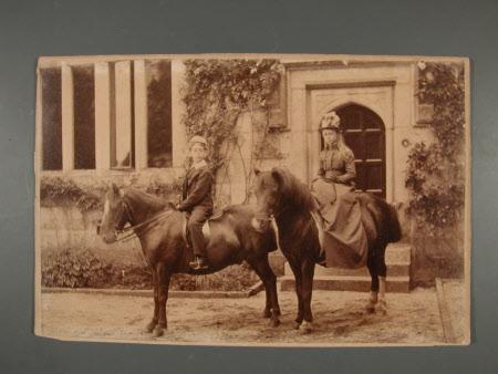 Captain, The Hon.Thomas Charles Reginald Agar-Robartes, MP (1880-1915) and his sister The Hon. Mary ...