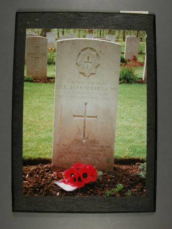 The grave of Captain, The Hon.Thomas Charles Reginald Agar-Robartes, MP (1880-1915) at Lapugroy ...