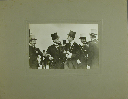 Group of men with The Hon.Thomas Charles Reginald Agar-Robartes, MP (1880-1915) on the left.