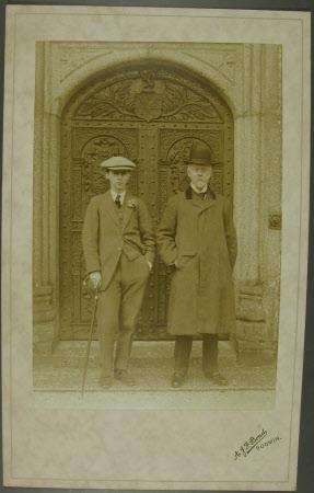 The Hon. Cecil Edward Agar-Robartes (1892-1939) with his father Thomas Charles Agar-Robartes, 6th ...