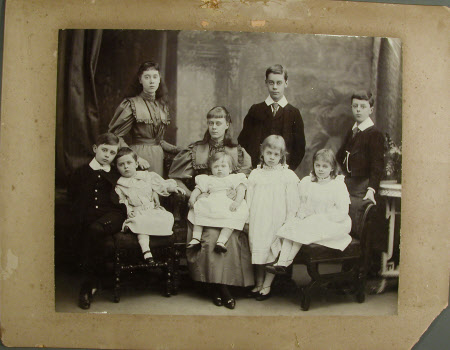Nine of the Agar-Robartes Children: Standing at the back, left to right, The Hon. Mary Vere ...