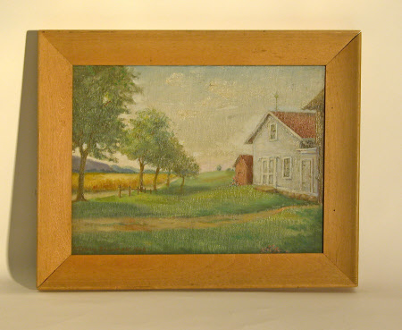 'The Old Jerome Farm and Birthplace of Leonard Jerome, Pompey, New York'