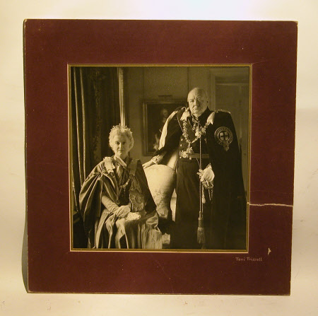 Sir Winston Churchill (1864-1975) and Clementine Ogilvy Hozier, Baroness Spencer-Churchill ...