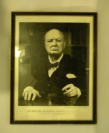 Sir Winston Churchill (1864-1975)  to commemorate his 80th birthday