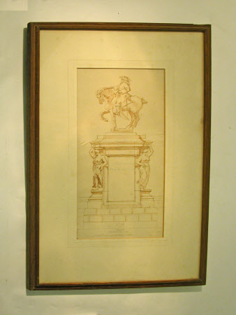 Design for statue to John Churchill, 1st Duke of Marlborough (1650-1722).