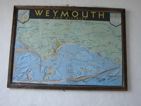 Map of Weymouth and District, Dorset