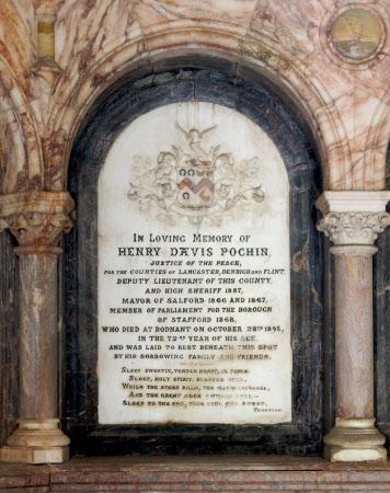 Memorial to Henry Davis Pochin (d.1895)