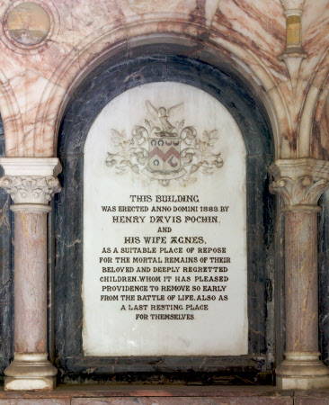 Memorial to the children of Henry Davis Pochin (d.1895) and his wife Agnes Heap (d.1908)