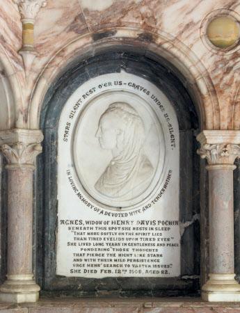 Memorial to Agnes Heap, Mrs Henry Davis Pochin (d.1908)