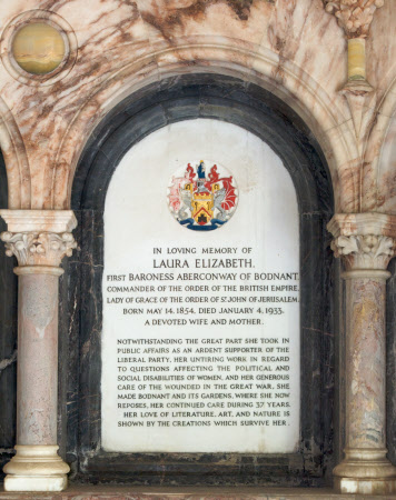 Memorial to Laura Elizaberth Pochin, Baroness Aberconway, CBE (1854-1933)