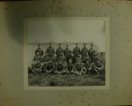 Group of soldiers with Captain, The Hon.Thomas Charles Reginald Agar-Robartes, MP (1880-1915)