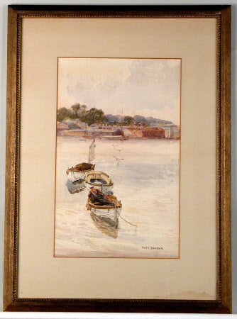 Coastal Scene with Boatman at East Cowes, Isle of Wight