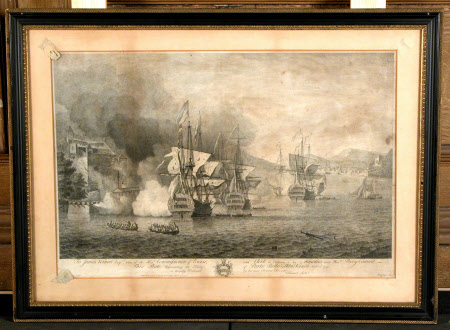 The taking of Porto Bello by Admiral Vernon, Nov 22nd 1739 (after Samuel Scott)
