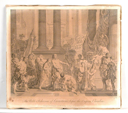 The Noble Behaviour of Caractacus before the Emperor Claudius (after Francis Hayman RA)