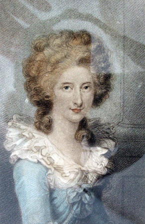 The Honourable Anne Seymour Damer (1748–1828) (after Richard Cosway)