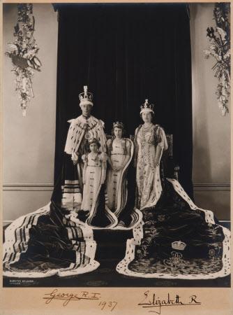 King George VI (1895-1952), Queen Elizabeth (1900-2002), Princess Elizabeth later Queen Elizabeth ...