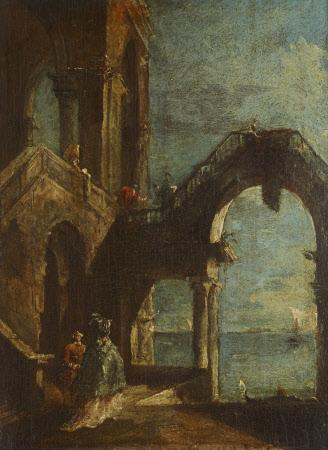 Capriccio with an Archway onto the Lagoon