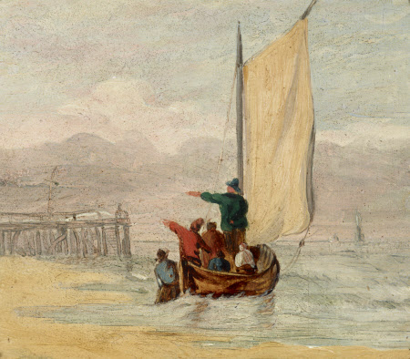 Fishing-boat off a Jetty