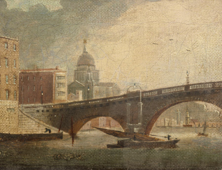 A London Bridge (Blackfriars) and St Paul's Cathedral, London