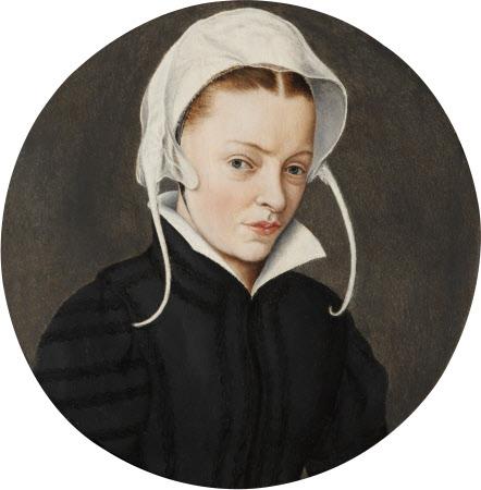 A Woman in a White Bonnet