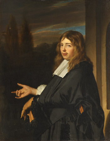 A Gentleman holding a Glove, possibly Greffier Gaspar Fagel (1634 - 1688)