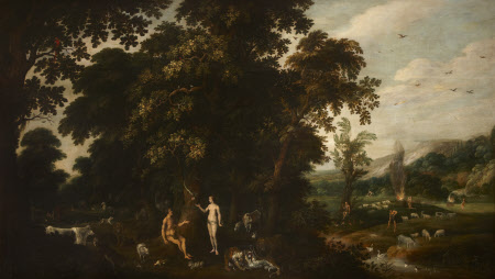 Landscape with Adam and Eve