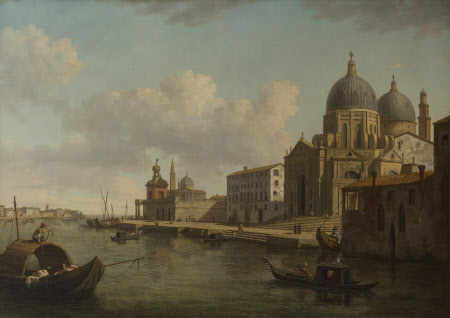 View of the Church of Santa Maria della Salute, Venice, looking East