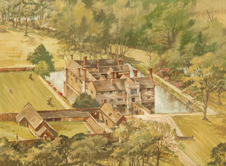 Bird's-Eye View of Baddesley Clinton from the East