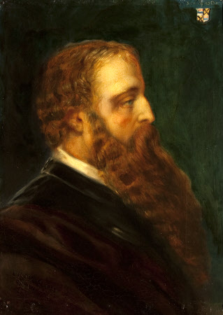 Edward Heneage Dering (1826-1892), in profile to the right