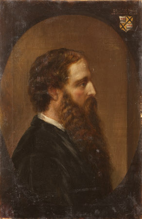 Edward Heneage Dering (1826-1892), in profile to the right, in a painted oval